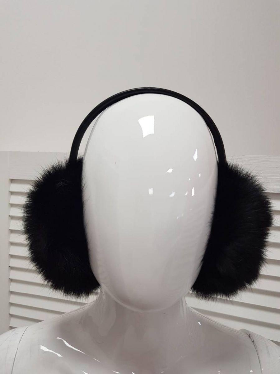 Купить Черные меховые наушники - Киев d9c3bac825bbe