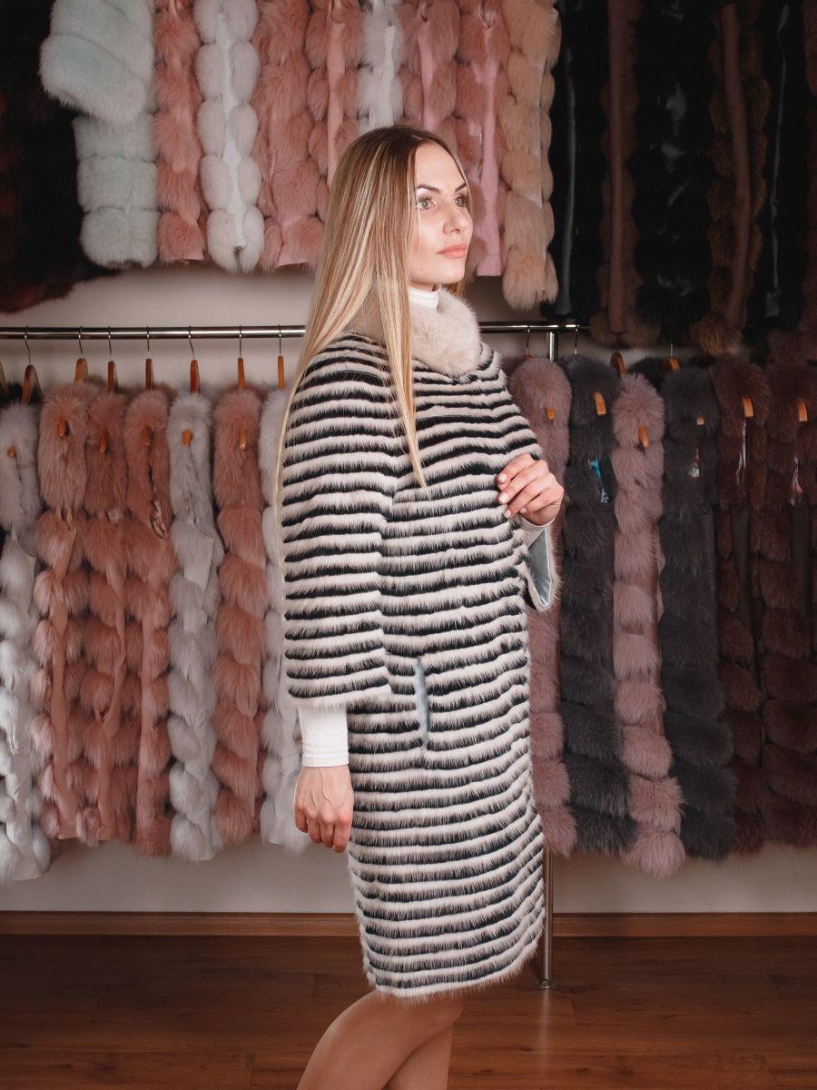 купить светлый удлиненный кардиган из вязаной норки киев одесса